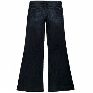 7 For All Mankind Dojo 25X30.5 Flare Blue Jeans